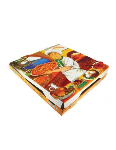 100 uds - CAJAS PIZZA 260x260x35 mm...